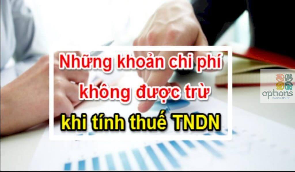 Các khoản chi không được trừ khi tính thuế TNDN